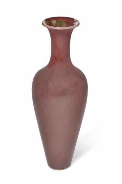 A PEACHBLOOM-GLAZED VASE, LIUY