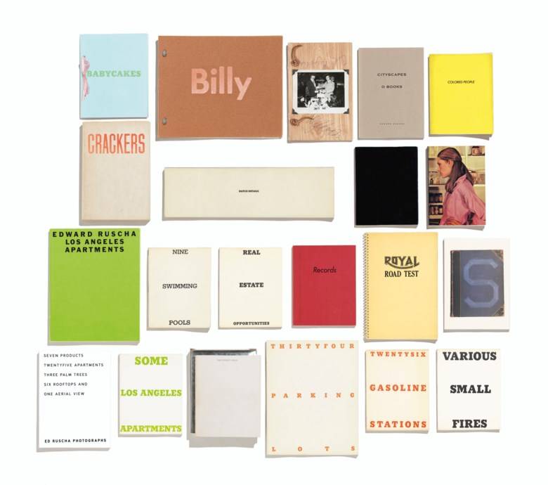 Ed Ruscha, A small library of books by the artist. Estimate $20,000-30,000. Offered in Thirtyfive Works by Ed Ruscha on 27 September 2019 at Christie's in New York