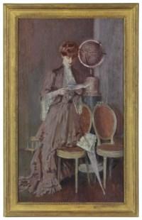 Portrait de Mme Helleu lisant debout