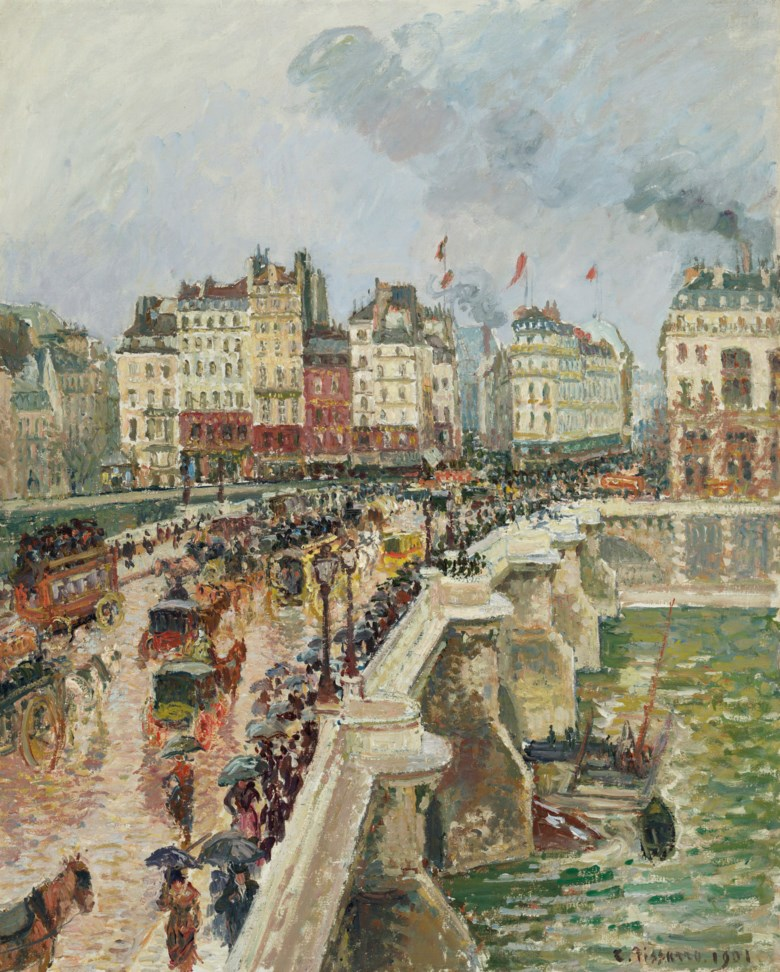Camille Pissarro (1830-1903), Le Pont-Neuf, après-midi de pluie, 1re série, 1901. Oil on canvas. 32 x 25¾  in (81.2 x 65.4  cm). Sold for $6,517,500 on 11 November 2019 at Christie's in New York