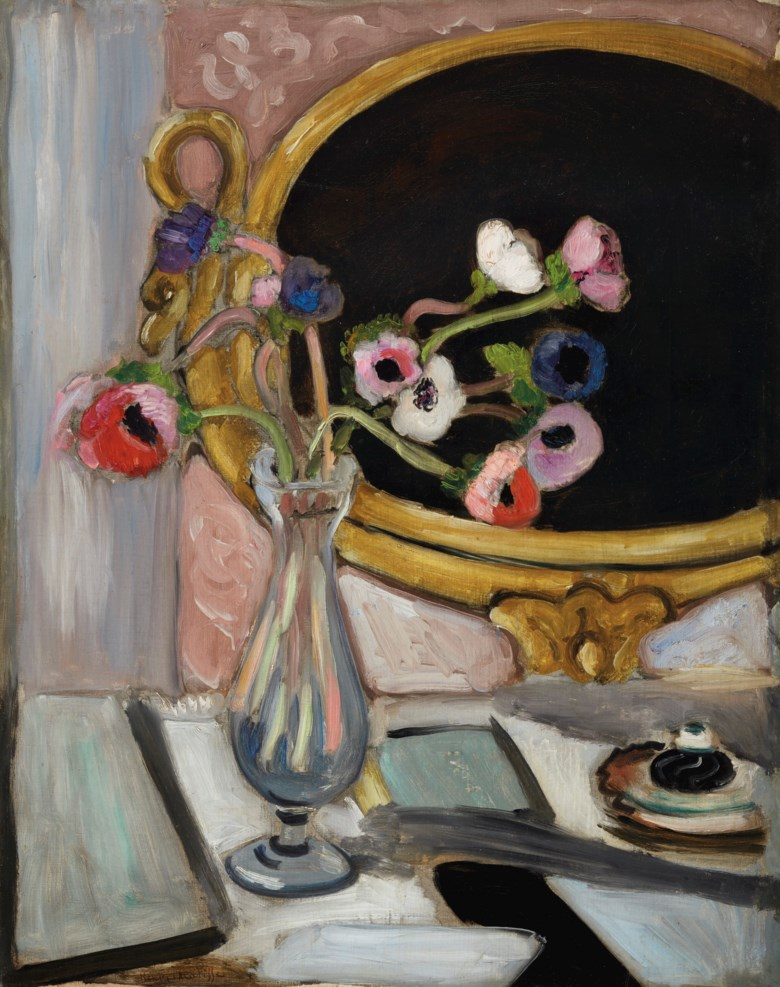 Henri Matisse (1869-1954), Anémones au miroir noir, 1919. 26¾ x 21¼  in (67.9 x 53.8  cm). Estimate $2,000,000-3,000,000. Offered in Impressionist and Modern Art Evening Sale on 11 November 2019 at Christie's in New York