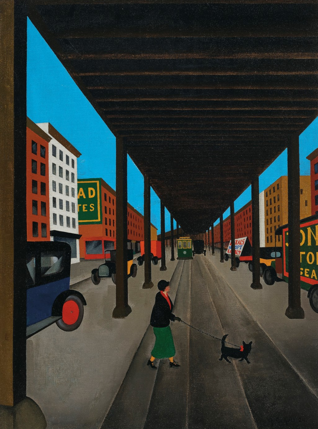 George Copeland Ault (1891-1948) Ninth Avenue