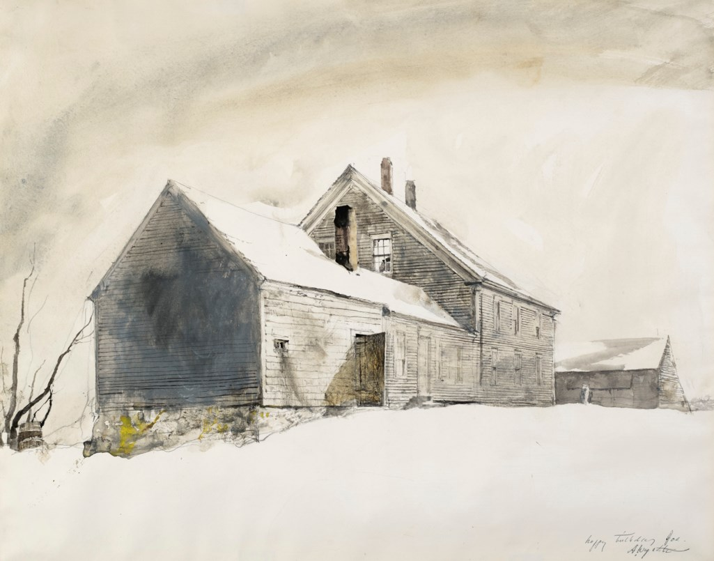 Andrew Wyeth (1917-2009) Olsons in the Snow