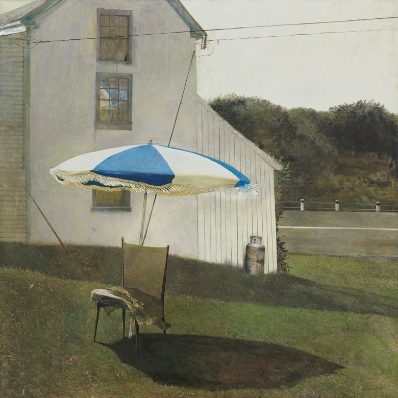 Andrew Wyeth (1917-2009), Olivers Cap, 1981. Tempera on panel. 48 x 48  in (121.9 x 121.9  cm). Estimate $3,000,000-5,000,000. Offered in American Art on 20 November 2019 at Christie's in New York