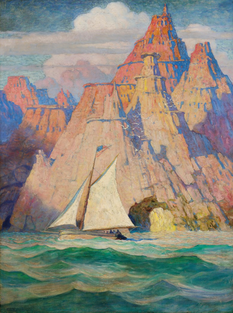 Newell Convers Wyeth (1882-1945), The Bonadventure, 1918. Oil on canvas. 39¾ x 30  in (101 x 76.2  cm). Estimate $300,000-500,000. Offered in American Art on 20 November 2019 at Christie's in New York
