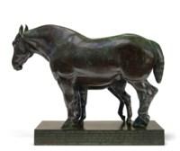 Percheron Mare: Messaline and Foal