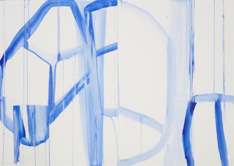 Elizabeth Jobim (b. 1957), Untitled, executed in 2001.  Acrylic on paper. 39 x 55 in (99 x 139.7 cm). Estimate $6,000-8,000. Offered in Latin American Art Online, 16-26 November 2019, Online