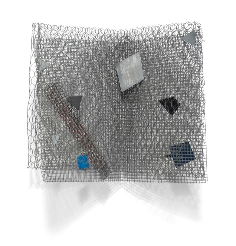Arthur Luiz Piza (1928-2017), Untitled, executed in 2004. Galvanized wire mesh and acrylic on zinc. 13⅛ x 14¼ x 8¼ in (33.4 x 36.2 x 21 cm). Estimate $4,000-6,000. Offered in Latin American Art Online, 16-26 November 2019, Online