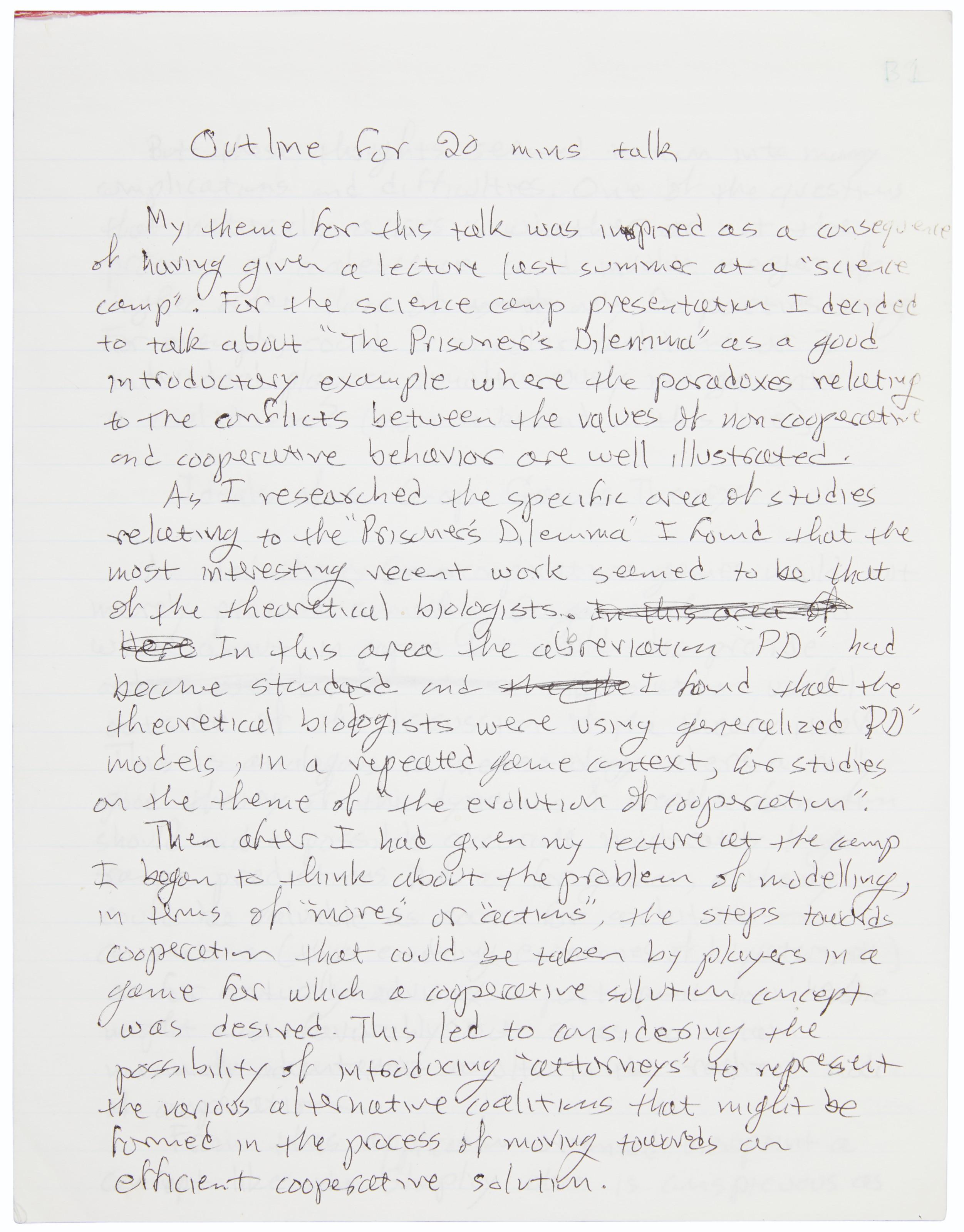 A handwritten lecture