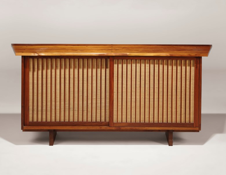George Nakashima (1905-1990), Sideboard, 1972. 31¾ in (80.6 cm) high; 60 in (154.2 cm) wide; 21½ in (54.6 cm) deep. Estimate $15,000-20,000. Offered in Design on 13 December 2019 at Christie's in New York
