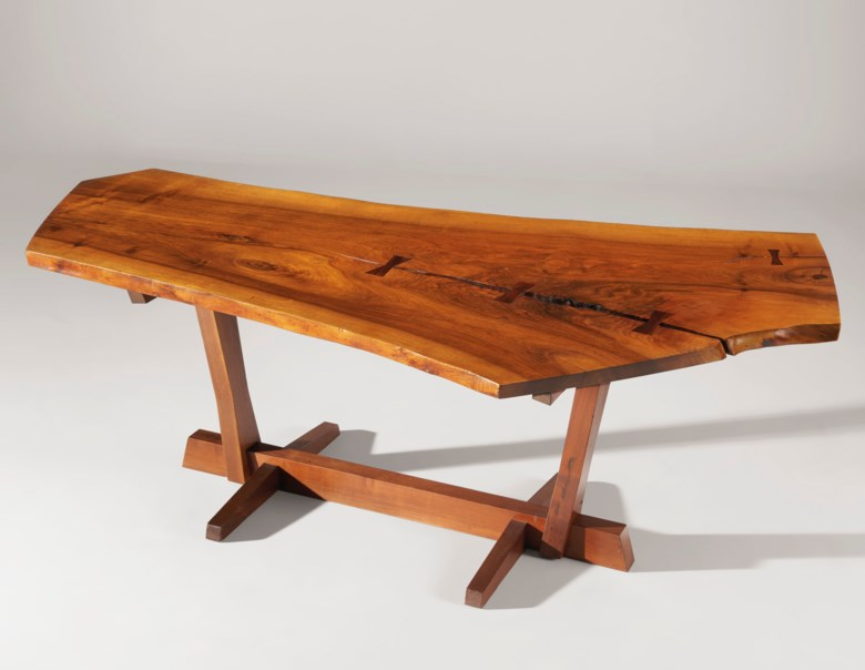 George Nakashima (1905-1990), Conoid dining table, 1968. 28½ in (72.3 cm) high; 92½ in (235 cm) wide; 46 in (116.8 cm) deep. Estimate $50,000-70,000. Offered in Design on 13 December 2019 at Christie's in New York