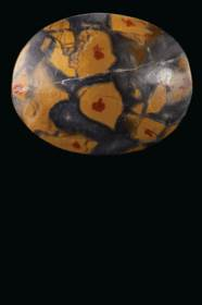 A GREEK MOTTLED YELLOW JASPER