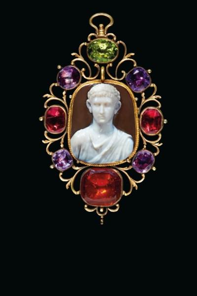 A ROMAN SARDONYX CAMEO WITH A