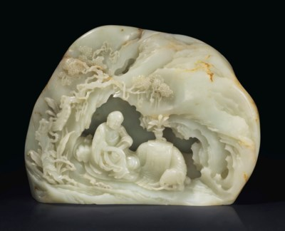 A LARGE AND FINELY CARVED PALE