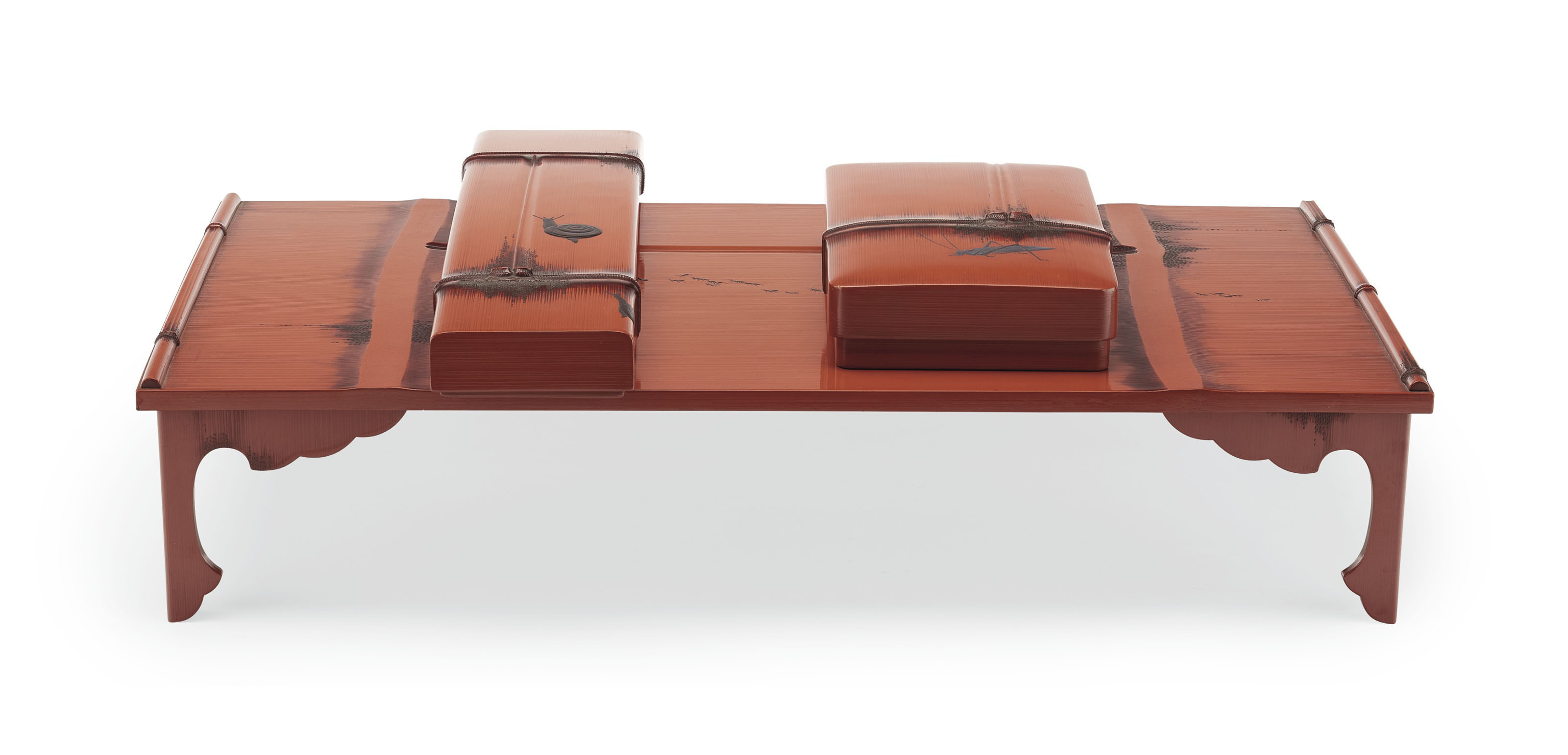 A SET OF WRITING TABLE (BUNDAI), WRITING BOX (SUZURIBAKO) AND PAPER BOX (FUBAKO)