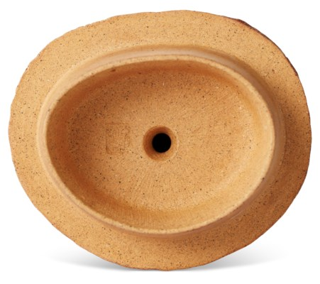A YIXING BAMBOO-STALK-FORM TEAPOT AND COVER, 'OVERHANDLE BAMBOO ROOTS'