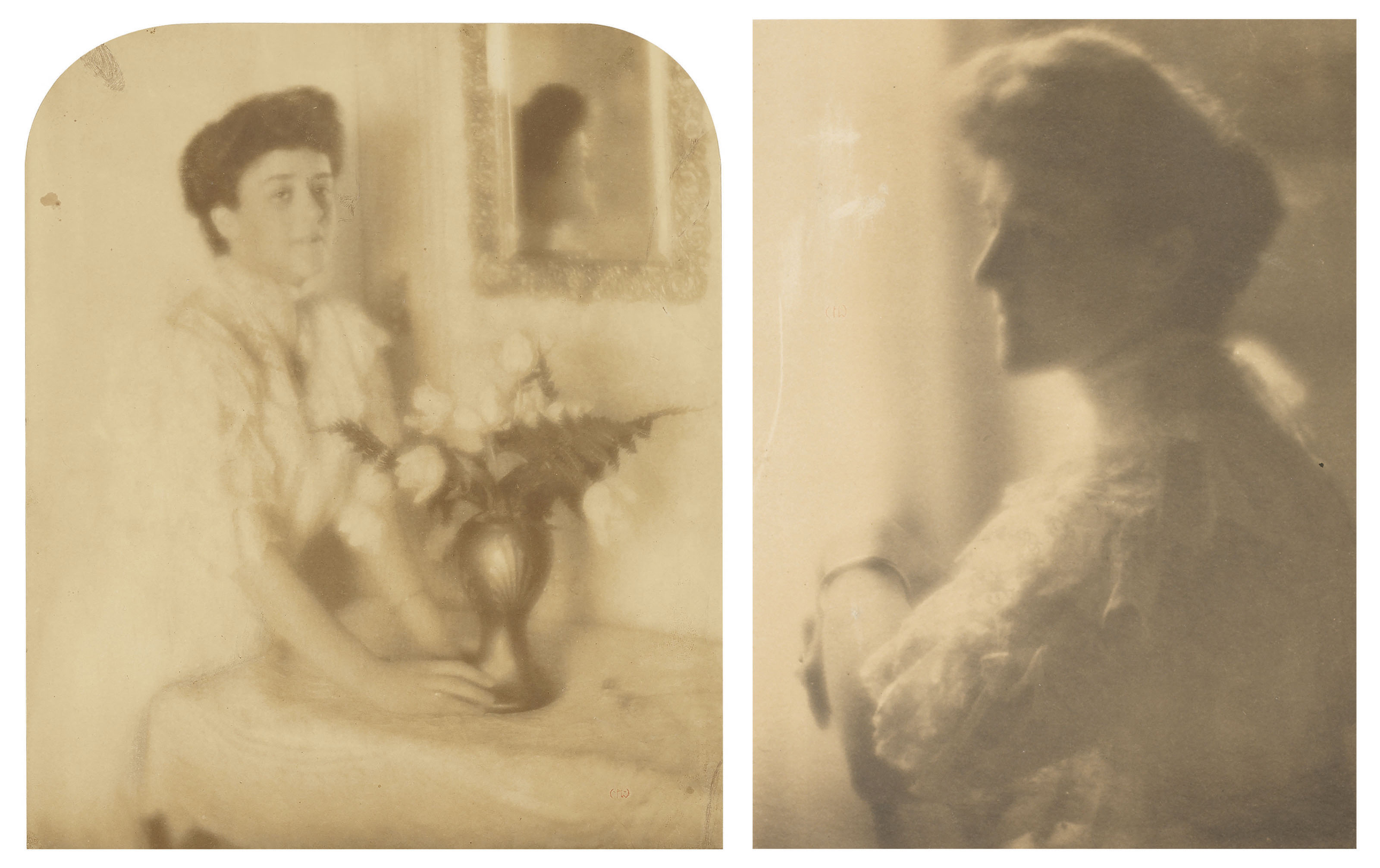 Woman with Vase of Flowers and Portrait of a Woman, 1906