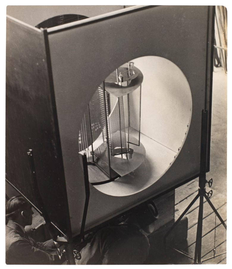 László Moholy-Nagy (1895–1946), Light Prop for an Electric Stage (Light-Space Modulator), 1930. Imagesheet 7⅜ x 6⅜  in (18.8 x 16.1  cm). Estimate $15,000-25,000. Offered in The Face of the Century Photographs from a Private Collection on 2 April 2019 at Christie's in New York