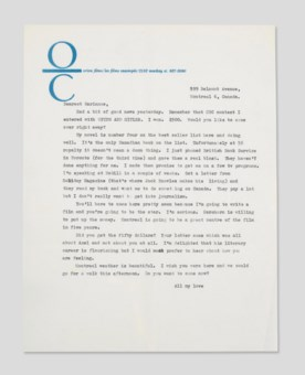 Leonard Cohen's letters to Marianne Ihlen come to auction