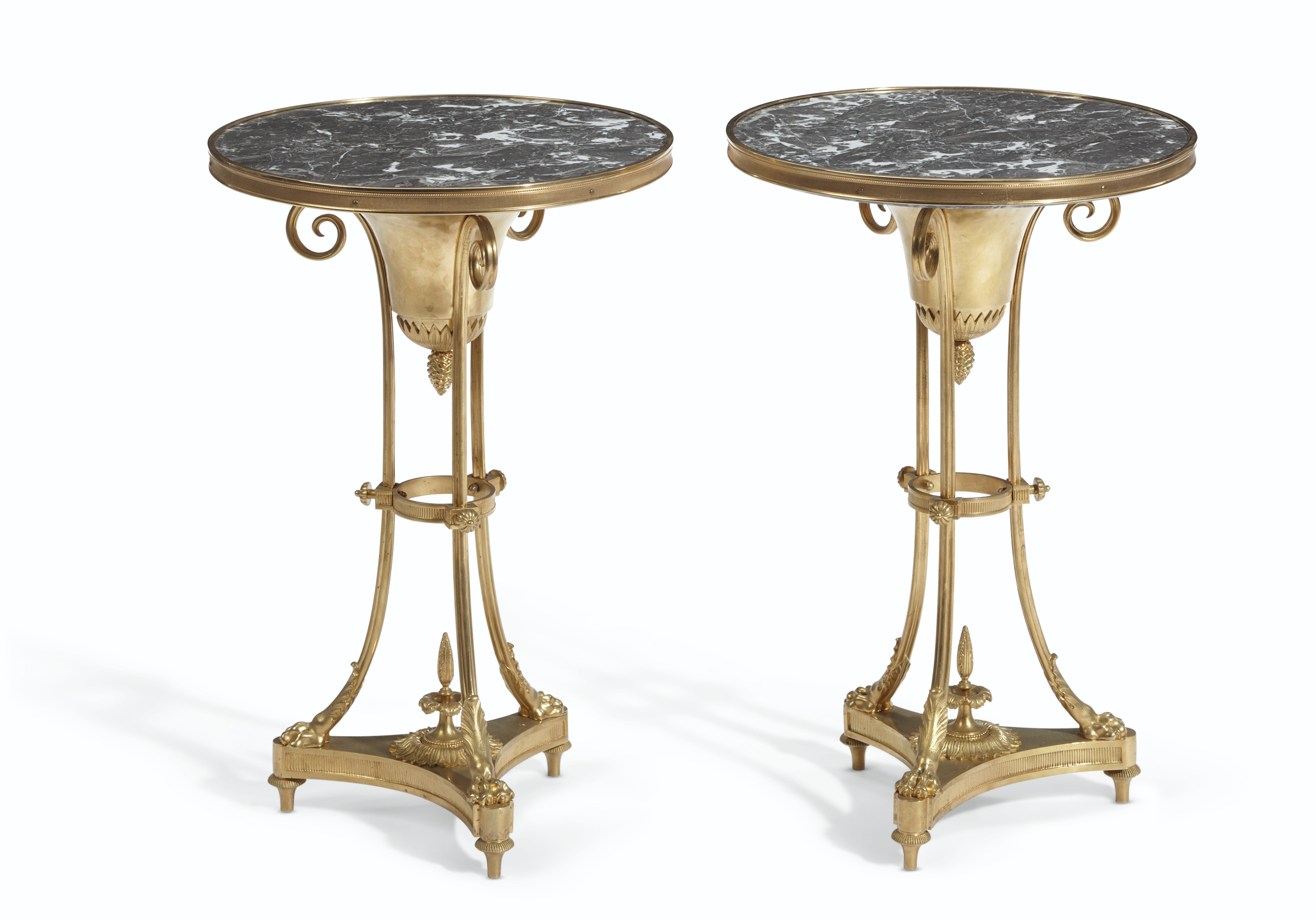 A PAIR OF FRENCH ORMOLU GUERIDONS