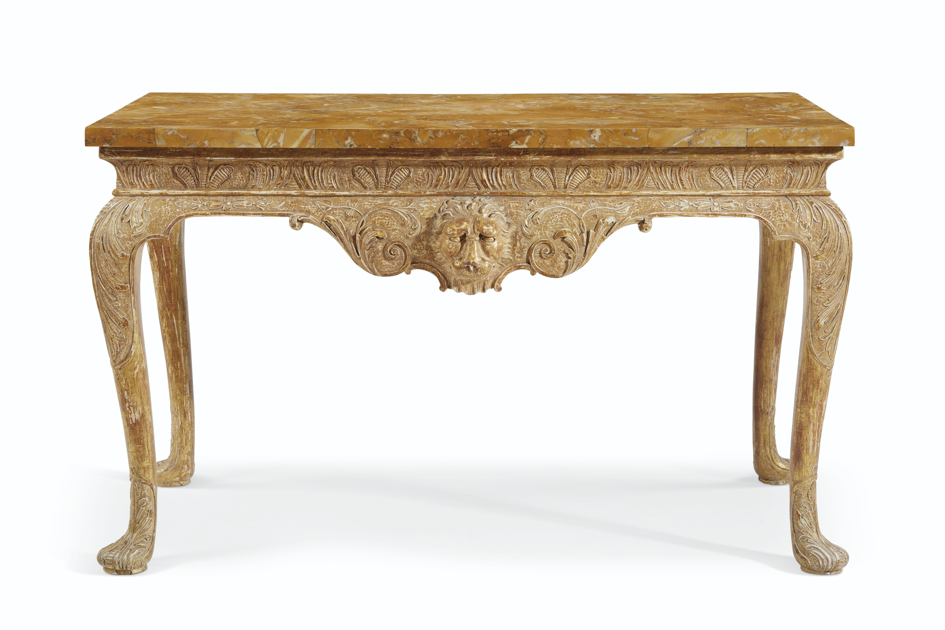 AN ENGLISH GILT-GESSO SIDE TABLE