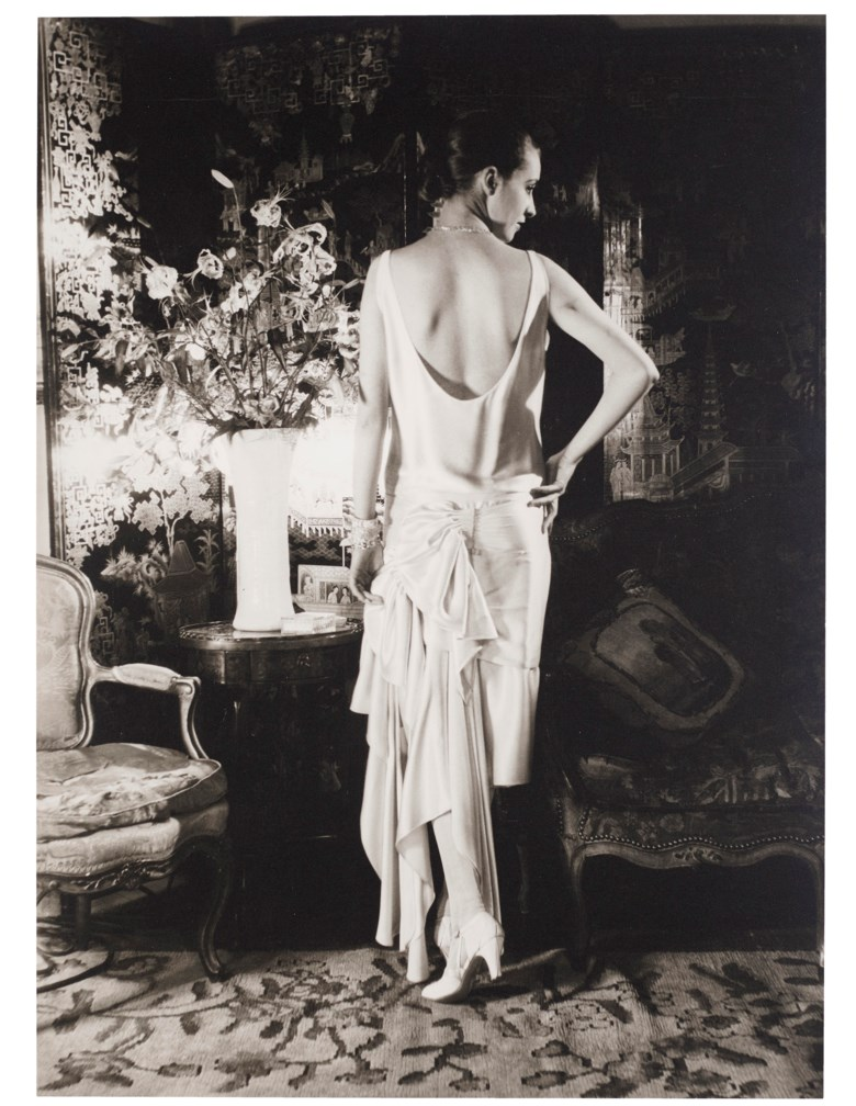 Cecil Beaton (1904-1980), Marion Moorehouse in Condé Nast's New York Apartment, for Vogue, 1929. Gelatin silver print, mounted on board, printed early 1970s. Mount 21⅞ x 16⅞ in (55.5 x 42.7 cm). Estimate $3,000-5,000. Offered in  Fashion Photo, 2-11 December 2019, Online