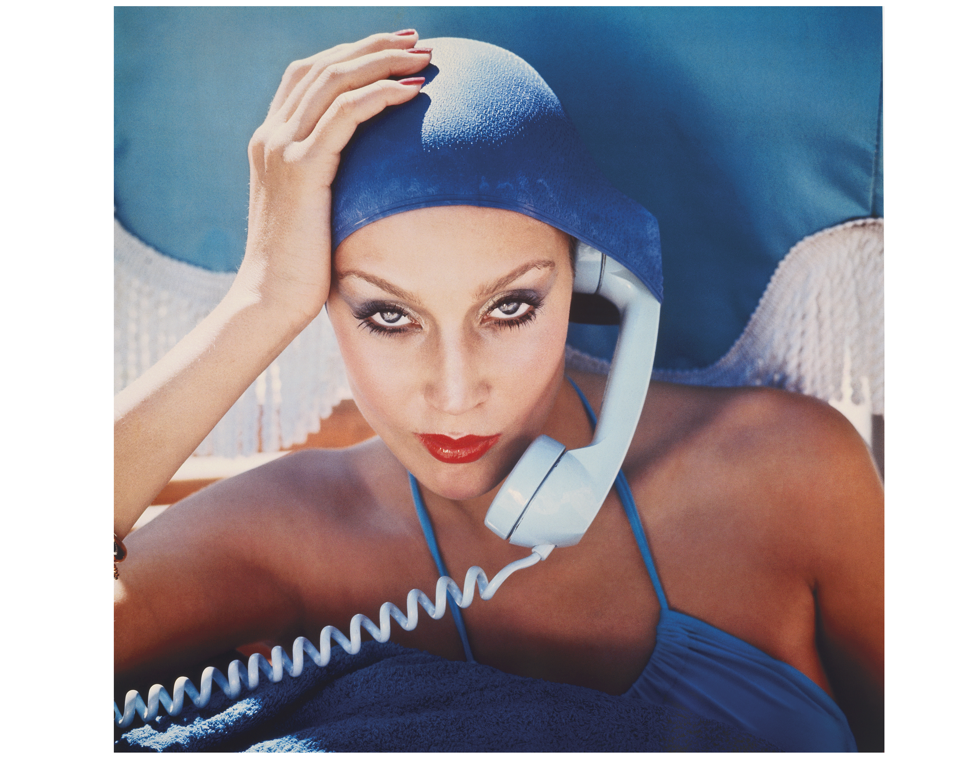 Norman Parkinson (1913-1990), Jerry Hall, Jamaica, 1975. Sheet 48 x 48 in (122.8 x 122.8 cm). Estimate $7,000-9,000. This lot is offered in  Fashion Photo, 2-11 December 2019, Online