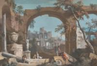 Caprice architectural avec double arches en ruines