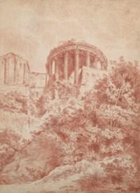 Vue des temples de Vesta et de la Sibylle à Tivoli