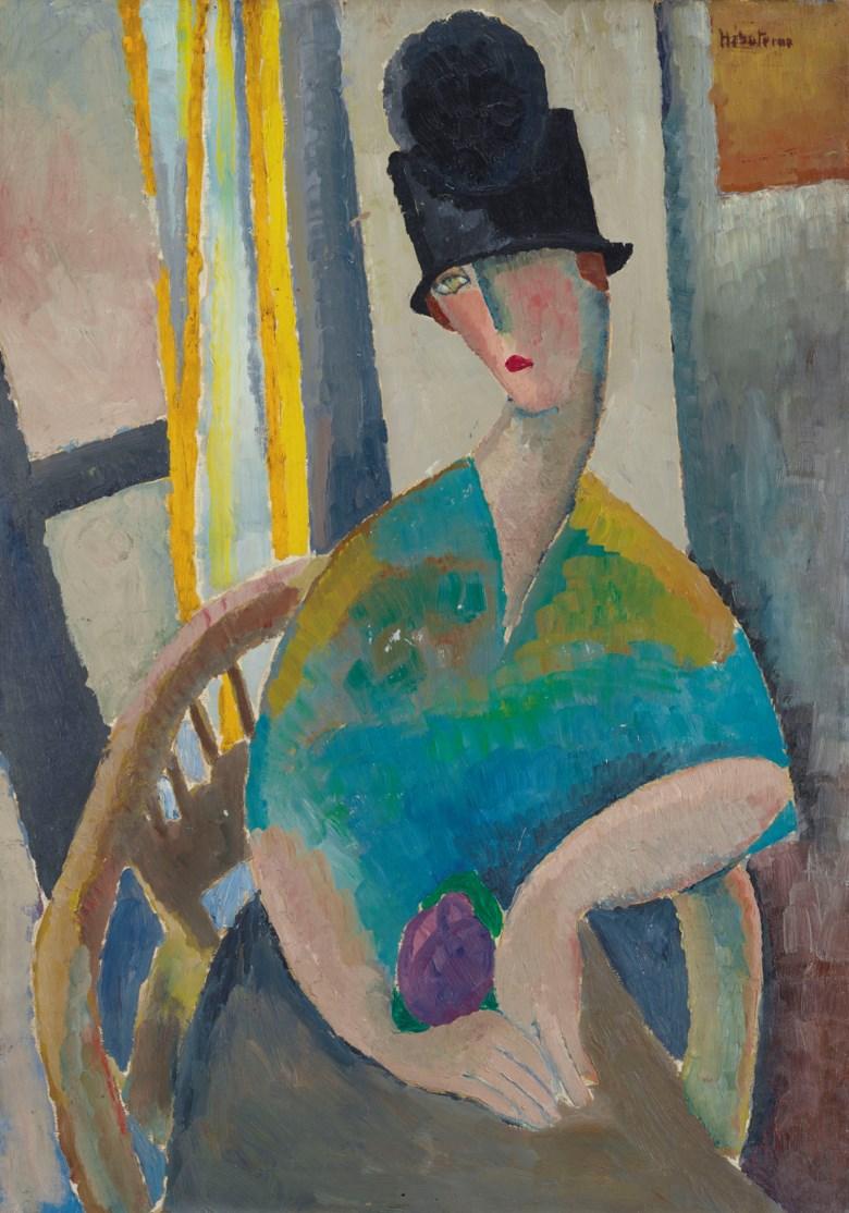 Jeanne Hébuterne (1898-1920), Femme au chapeau cloche, 1919. Sold for €478,000 on 29 March 2019 at Christie's in Paris