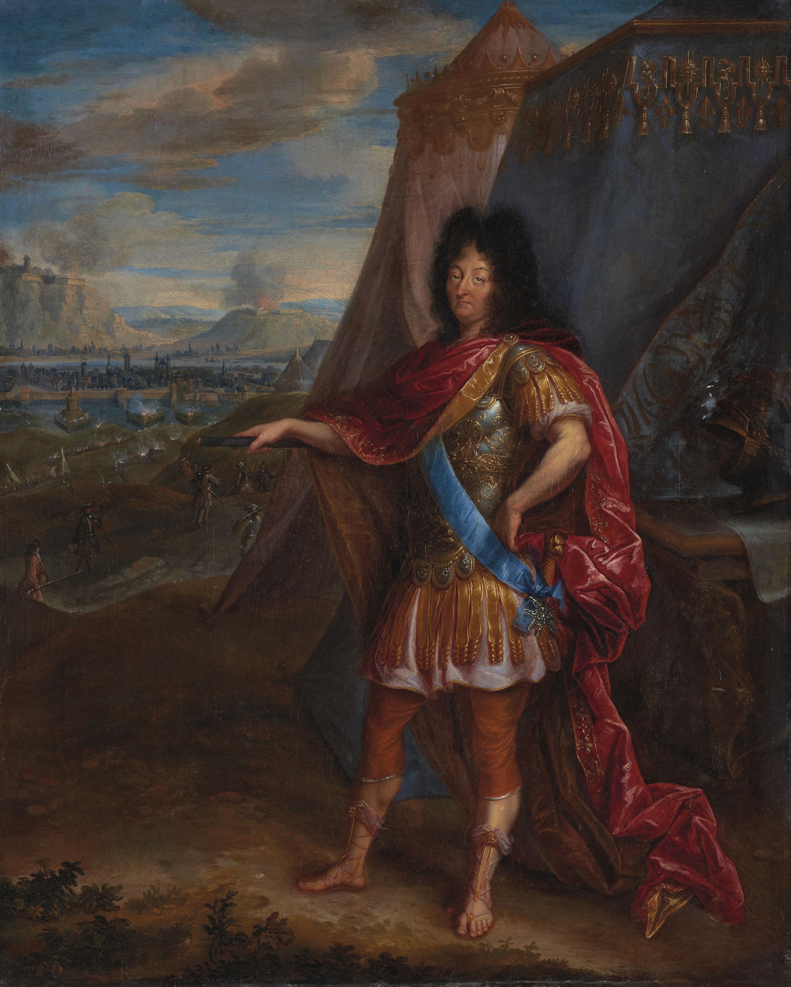 Portrait de Louis XIV en armure à l'antique