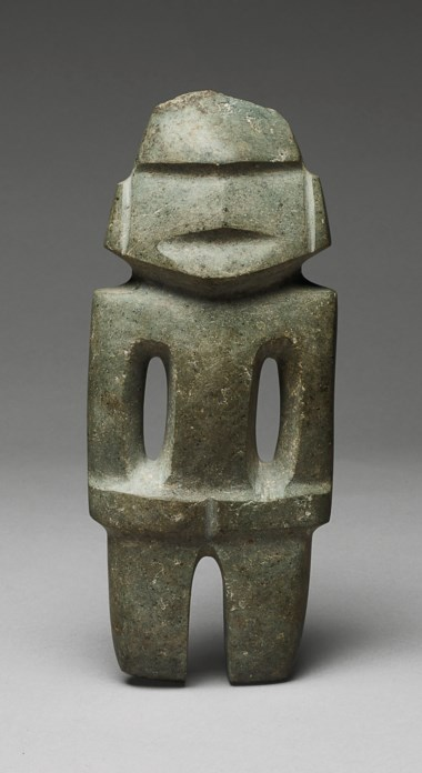 Standing Mezcala figure, Type M14, Pre-Classic, circa 300-100 BC. Height 9½ in (24.4 cm). Sold for €55,000 on 9 April 2019 at Christie's in Paris