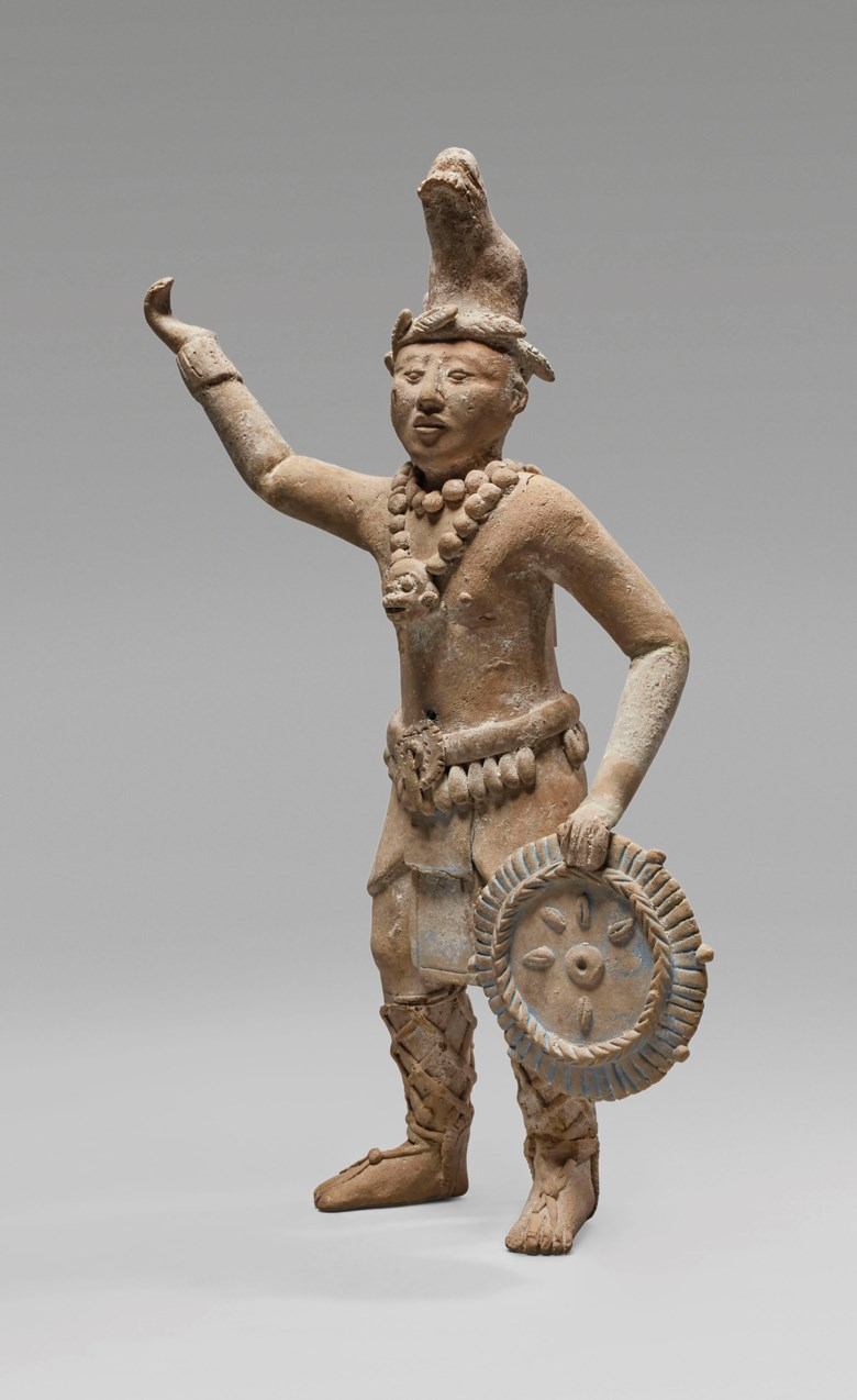 Mayan figure, Jaina, Classic, circa 550-950 AD. Height 24 cm. Sold for €25,000 on 9 April 2019 at Christie's in Paris