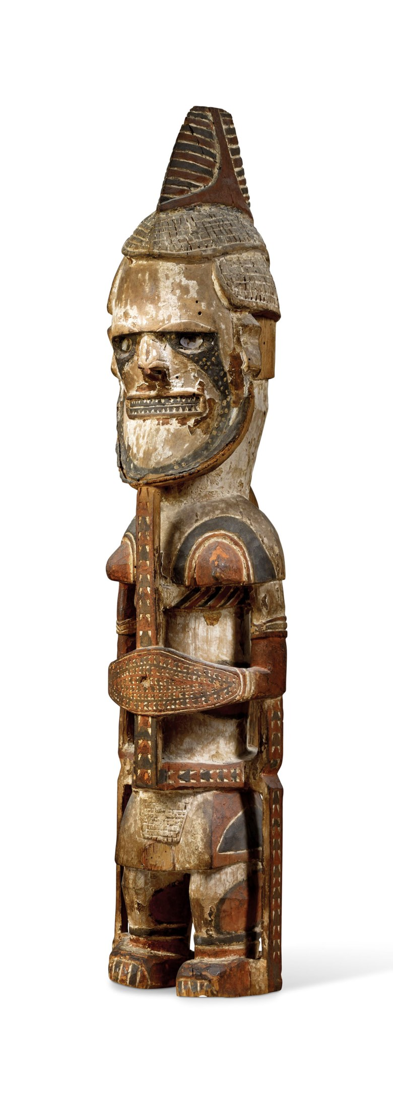 An Uli ancestor figure, New Ireland, Papua New Guinea. Height 117  cm (46  in). Estimate €120,000-180,000. Offered in Art from Africa, Oceania and North America on 10 April 2019 at Christie's in Paris