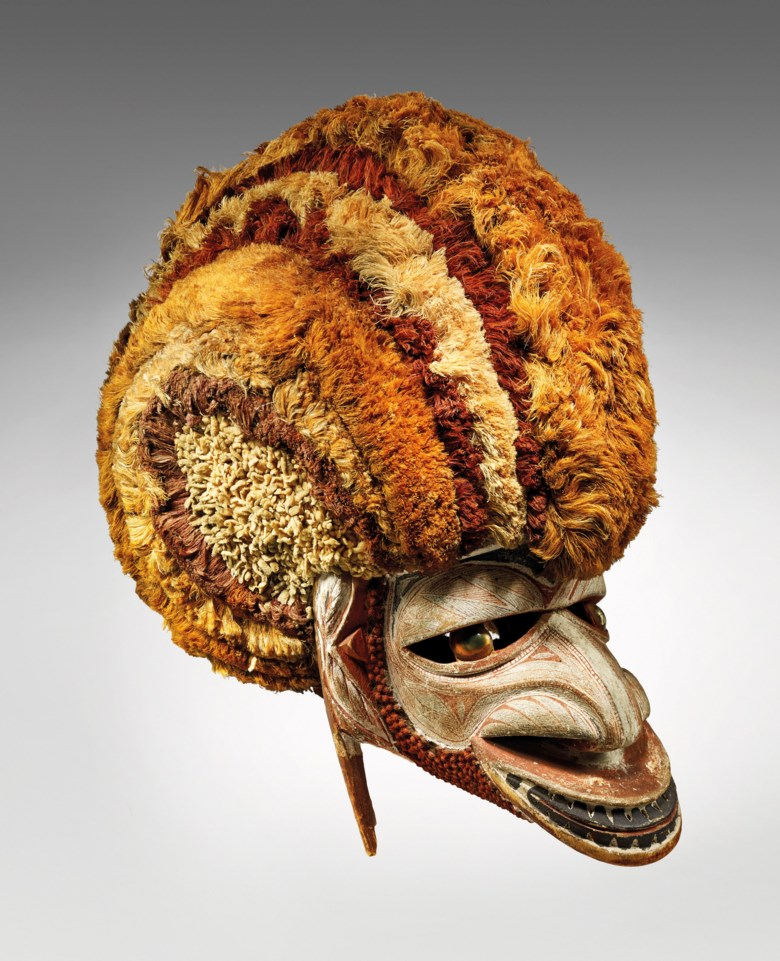 A Tatanua mask, New Ireland, Papua New Guinea. Height 39  cm (15⅜  in). Sold for €280,000 on 10 April 2019 at Christie's in Paris