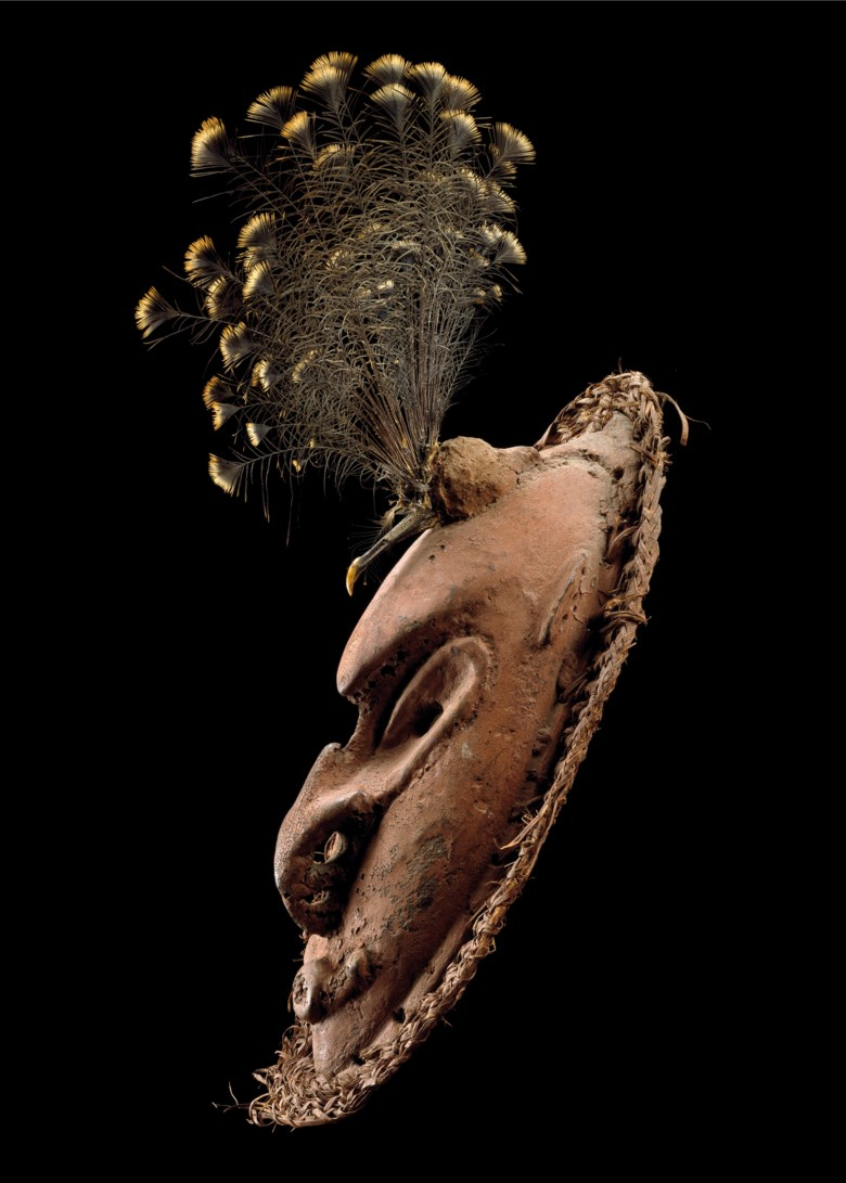 Mouth of Sepik mask, Papua New Guinea. Height 36  cm (14⅛  in). Estimate €70,000-100,000. Offered in Art from Africa, Oceania and North America on 10 April 2019 at Christie's in Paris