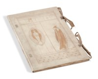 WILDE (O.). The Sphinx. London, Elkin Mathews & John Lane. At the Sign of the Bodley Head, 1894, in-4°, vélin décoré à rabats, dos lisse, non rogné, cordons d'attaches conservés (Leighton).