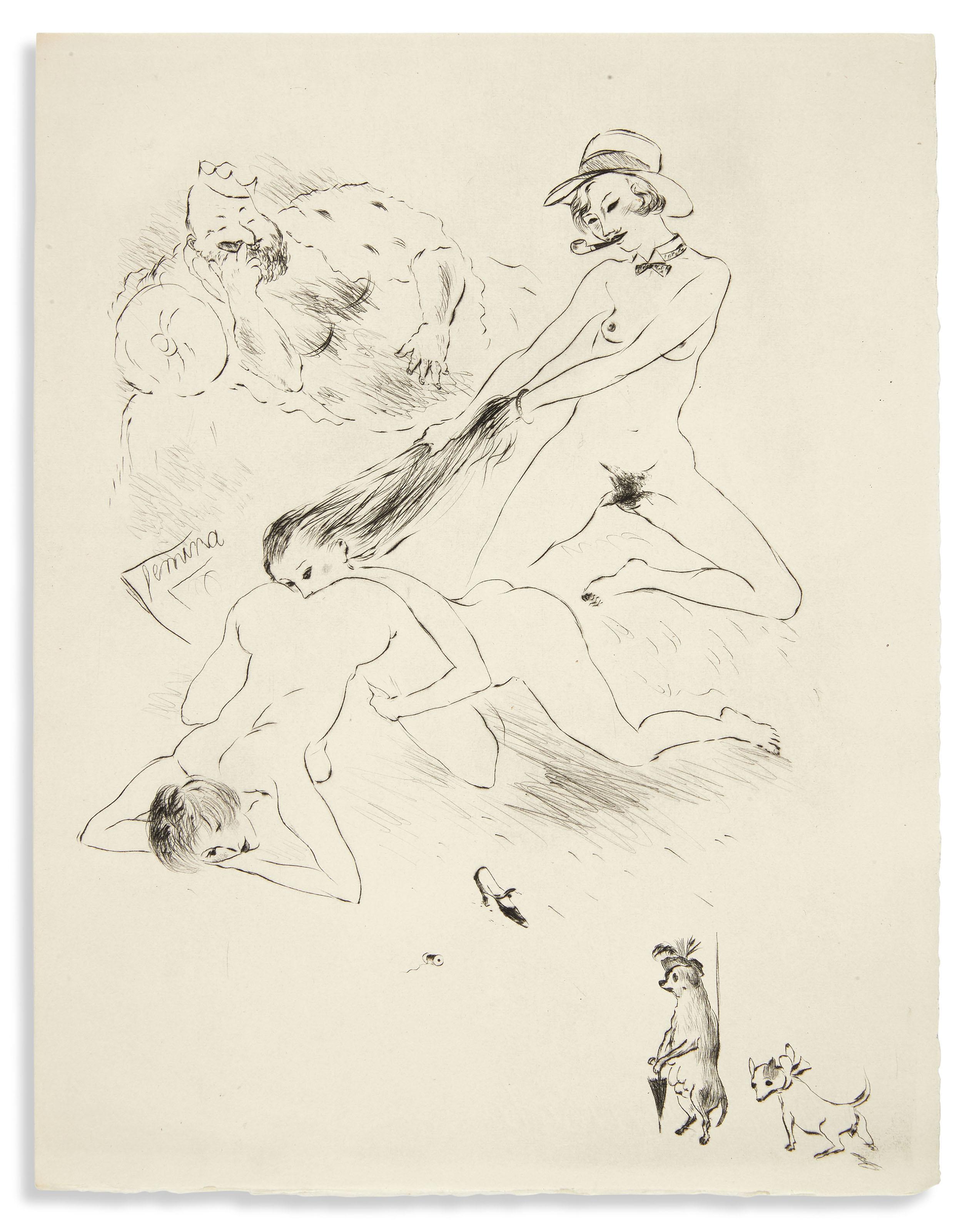 LOUŸS (P.) – VERTÈS (M.). Les Aventures du roi Pausole. Paris, Aux dépens d'un amateur, 1930, in-4°, en feuilles, couverture, chemise et étui d'éditeur.