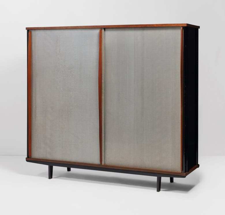Jean Prouvé (1901-1984), 'Pointe diamant' wardrobe, No. 100, 1952. Estimate €50,000-70,000. Offered in Design on 21 May at Christie's in Paris