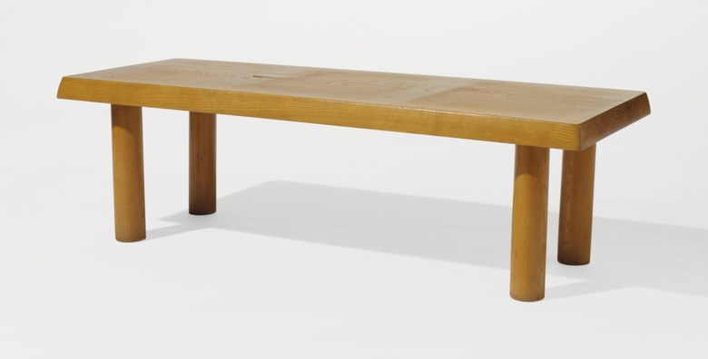 Charlotte Perriand (1903-1999), Table basse, circa 1958. H 35 x l 112.5 x P 42.5 cm  13¾ x 4¼ x 16¾ in. Estimate €12,000-15,000. Offered in Design on 21 May 2019 at Christie's in Paris
