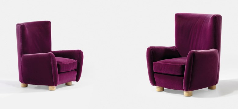 Jean Royère (1902-1981), a pair of 'Relax'  armchairs, 1947. Each H 100.5 x L 85.5 x P 94 cm (39½ x 33 ¾ x 37 in). Estimate €40,000-60,000. Offered in Design on 21 May 2019 at Christie's in Paris