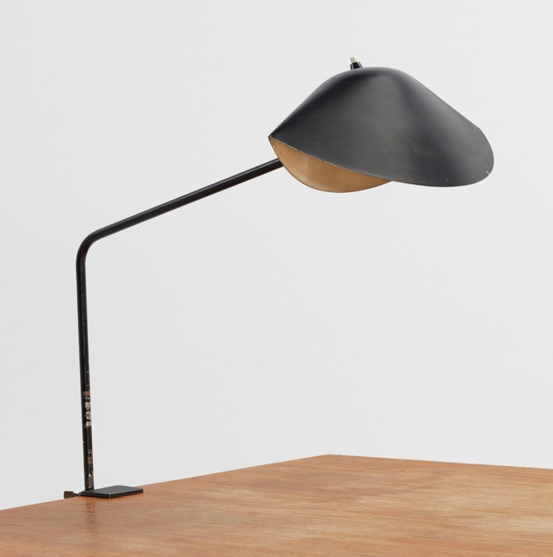 Serge Mouille (1922-1988), An Agrafée Simple desk lamp, 1957. Estimate €2,000-2,500. Offered in Design on 21 May at Christie's in Paris
