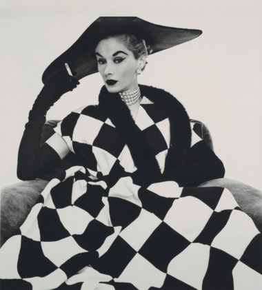 Irving Penn (1917-2009), Harlequin Dress (Lisa Fonssagrives-Penn), 1950. Image 66 x 56  cm (26 x 22  in). Estimate €200,000-300,000. Offered in Icons of Glamour & Style The Constantiner Collection on 19 June 2019 at Christie's in Paris