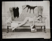 Reclining Nude with Vogue, 1954