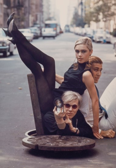 Burt Glinn (1925-2008), Andy Warhol with Edie Sedgwick and Chuck Wein, New York, 1965. Image 25.5 x 20.3  cm (10 x 8  in). Estimate €3,000-5,000. Offered in Icons of Glamour & Style The Constantiner Collection on 19 June 2019 at Christie's in Paris