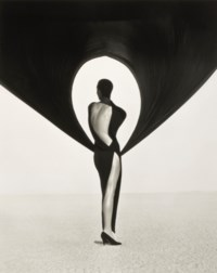 Versace Dress, Back View, El Mirage, 1990