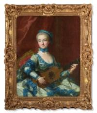 Portrait de femme jouant de la guitare