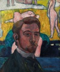 """Autoportrait au tableau """"Baigneuses à la vache rouge"""" ou Autoportrait aux nus"""