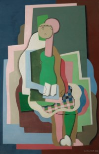 Jeune fille assise (Portrait de la fille de l'artiste)
