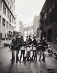 Cindy Crawford, Tatjana Patitz, Helena Christensen, Linda Evangelista, Claudia Schiffer, Naomi Campbell, Karen Mulder, Stephanie Seymour, American Vogue, Brooklyn, New York, 1991
